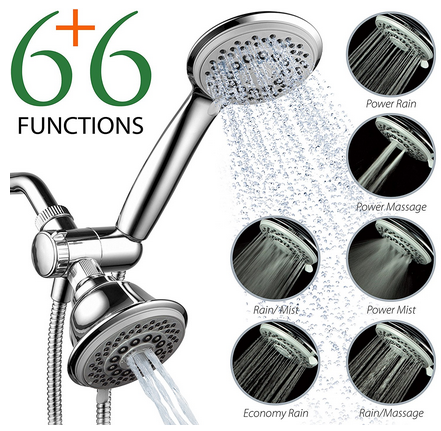 the aquastorm by hotelspa 30setting spiralflo 3 way luxury shower head combo is a shower head that lets you experience the ultimate in hotel luxury at home
