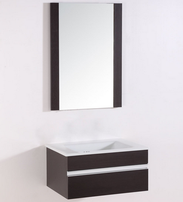bhbl 24 in wall hung bathroom vanity set with single sink and mirror