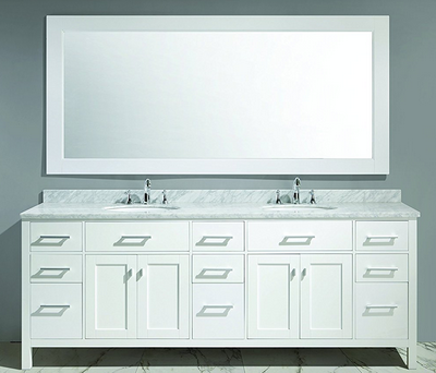Designs Are Trending And What Pers Want To Use In Their Own Homes Which Is Why The Company Designed This London 84 Double Sink Vanity Set