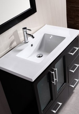 Make a bold statement in your bathroom and home with this Stanton 36-Inch  Single Sink Vanity Set from Design Element. Everything about this vanity  set is ...