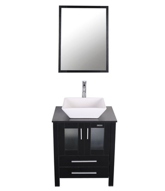 For A Twist On A Traditional Bathroom Vanity, Check Out This Eclife 24 Inch  Modern Bathroom Vanity That Comes With A Pedestal Sink. Unlike Under Mount  Sinks ...