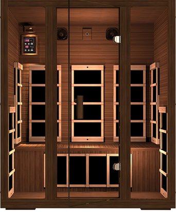 our hunt for the best infrared sauna for home use led us to the jnh lifestyles freedom 3 person canadian western red cedar wood far infrared sauna - Infared Sauna