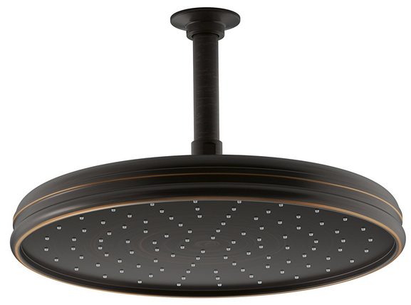 standing under this kohler shower head will make you feel like youu0027re outside in the middle of a storm this model comes with a round shower head that