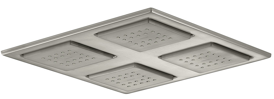 if you love the look of a rain shower head but donu0027t have a high ceiling you might prefer this overhead showering panel from kohler which has a lower