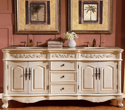 Double Sink Bathroom Cabinets.  make people gasp when they enter your bathroom you ll love this Silkroad Exclusive Countertop Marble Stone Double Sink Bathroom Vanity with Cabinet 20 Best Vanities Single Reviews You Need Today
