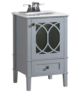 One Of The More Charming Bathroom Vanities That We Found Is This Paige 20u201d Bath  Vanity With White Quartz Marble Top From Simpli Home. This Single Sink ...
