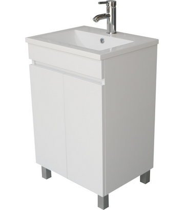 Sliverylake Single White Bathroom Vanity Cabinet
