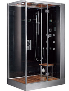 The Ariel Bath Dz959f8 Platinum Steam Shower Sauna Combines Elements Of A And Comes With Single Stool Inside That Serves As