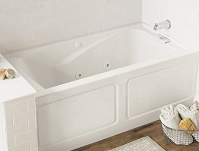 Our Choice For The Best Acrylic Bathtub Is The American Standard  2425VC LHO.020 Evolution 5 Feet By 32 Inch Left Hand Outlet Whirlpool Bath  Tub.