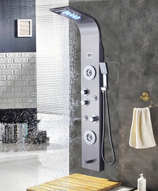 If You Want A Shower Panel That Will Transform Your Ordinary Into Steam Won T Believe This Ello Allo Stainless Steel