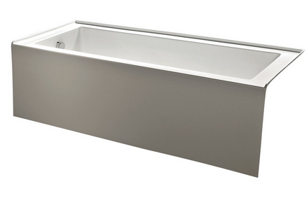 acrylic soaking tub 60 x 30. kingston brass vtde603122l 60-inch contemporary alcove acrylic bathtub soaking tub 60 x 30 b