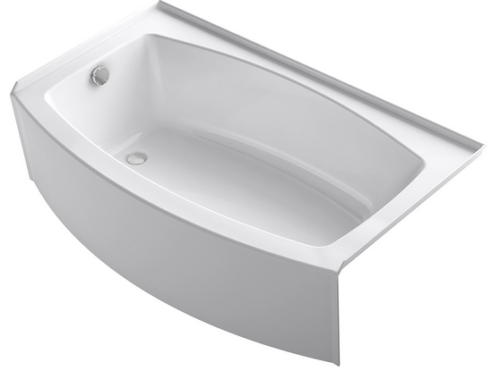 Marvelous The Last Tub From KOHLER To Make Our List Of The Best Acrylic Bathtubs Is  This  1118 LA 0 Expanse 60u2033 X 30u2033 To 36u2033 Curved Alcove Bath, Which Like The  ...