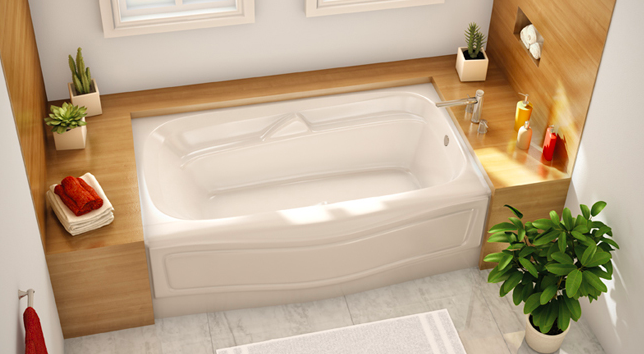 Having An Alcove Tub Is A Good Option For Those Who Like Showering On Some  Days And Bathing On Others Because It Lets You Enjoy A Long Soak Without A  Harsh ...