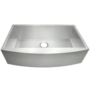 "AKDY 33"" x 20"" x 9"" Single Bowls 18 Gauge Undermount Apron Handmade Stainless Steel"