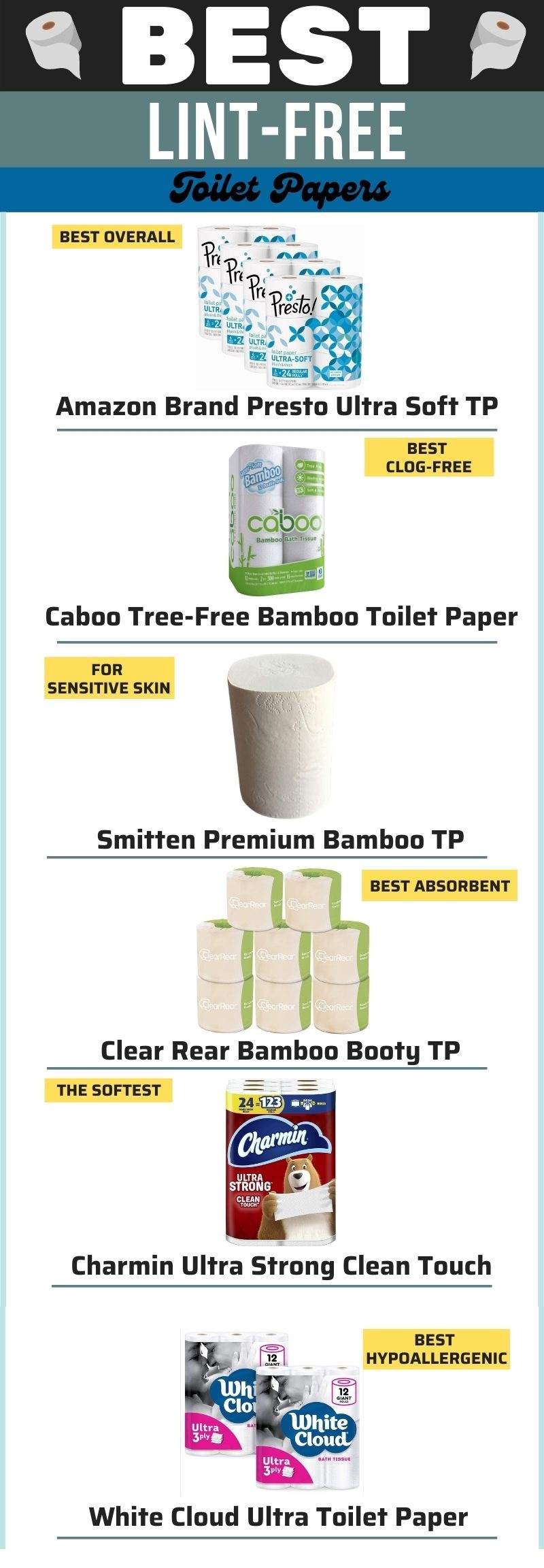 Best Lint Free Toilet Papers