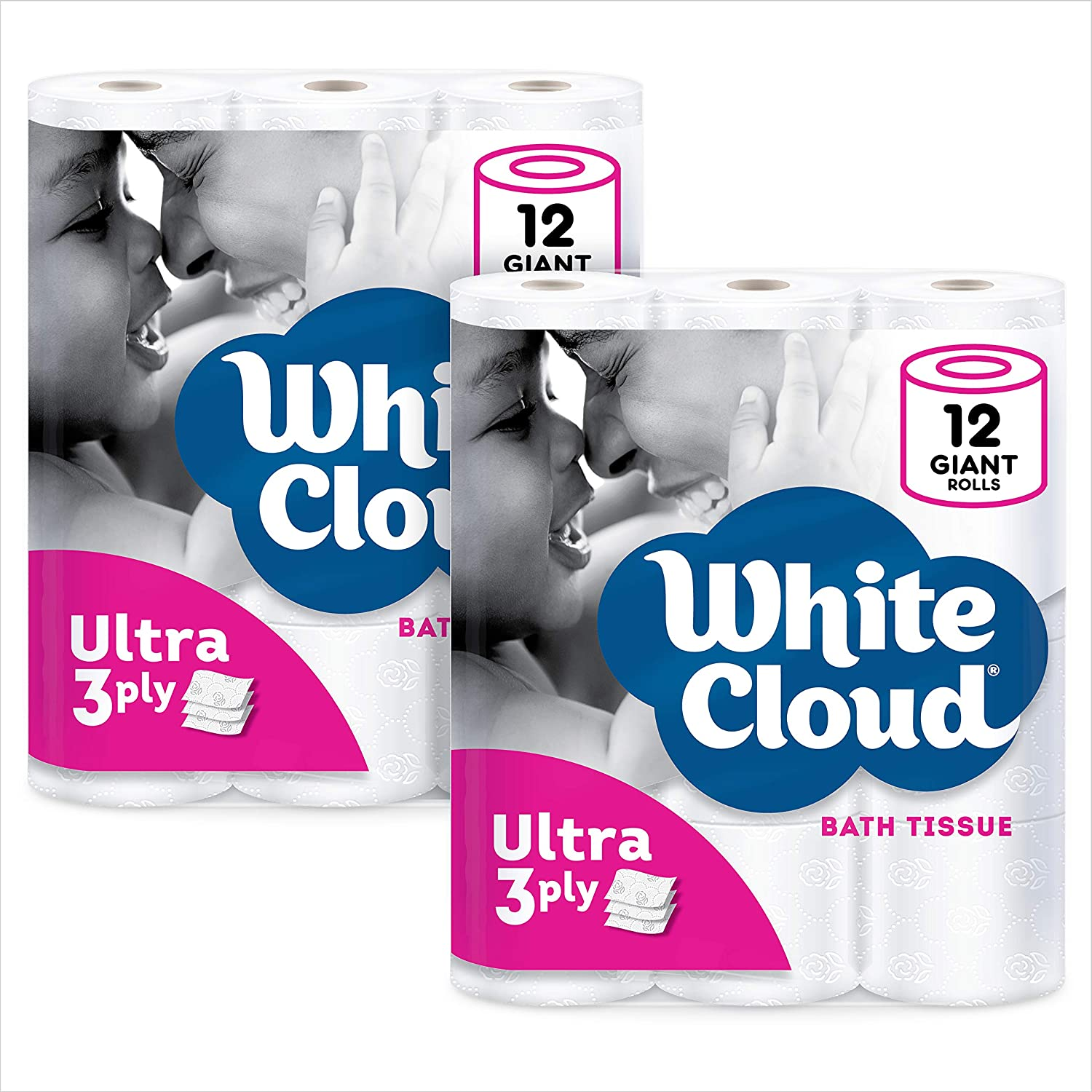 White Cloud Ultra Soft & Thick 3-Ply Toilet Paper