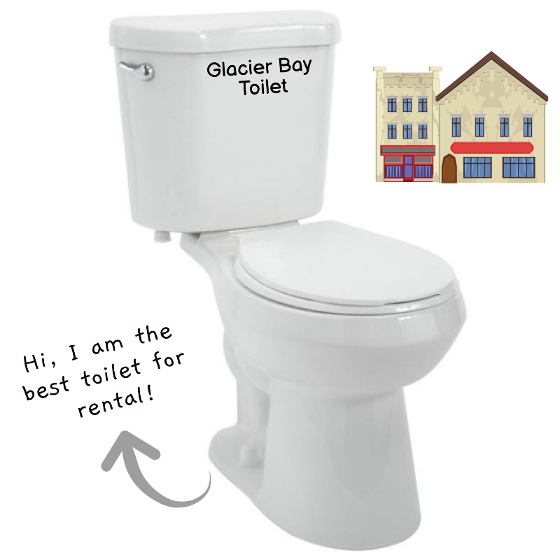 Glacier Bay Best Toilet For Rental